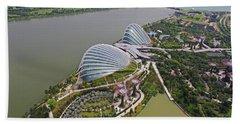 Marina Bay Sands Flower Garden And Park Hand Towel