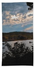 Bath Towel featuring the photograph Marina Colors by Tom Singleton