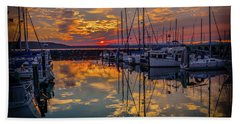 Marina Sunset Bath Towel