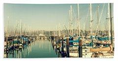 Marinaside Sausalito California Hand Towel