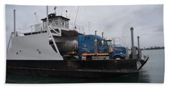 Marine City Mich Car Truck Ferry Bath Towel