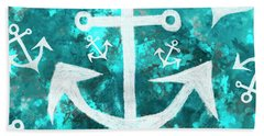 Maritime Anchor Art Bath Towel