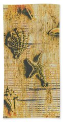 Maritime Sea Scroll Hand Towel