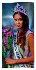Marizza Delgado Miss Pacific Coast Teen 2016 Hand Towel