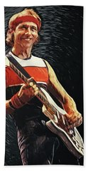 Mark Knopfler Hand Towel by Taylan Apukovska