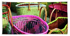 Bath Towel featuring the photograph Market Baskets - Libourne by Rick Locke