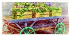 Bath Towel featuring the photograph Market Flowers by Wallaroo Images
