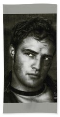 Marlon Brando - Painting Bath Towel