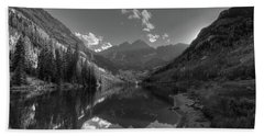 Maroon Bells Colorado B W Hand Towel