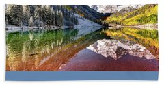 Maroon Bells At Dawn Hand Towel