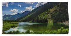 Maroon Lake Panorama Hand Towel