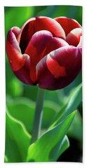 Maroon Tulip Hand Towel
