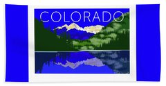 Maroon Bells Day Bath Towel