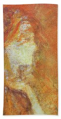 Bath Towel featuring the painting Mars by Jane See
