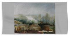 Marsh Bath Towel by Anna  Duyunova