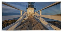 Marshall Point Lighthouse At Sunrise Hand Towel
