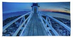 Marshall Point Lighthouse At Sunset, Maine, Usa Bath Towel
