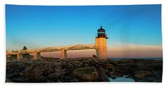 Marshall Point Lighthouse Bath Towel by Diane Diederich
