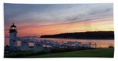 Marshall Point Lighthouse, Port Clyde, Maine -87444 Bath Towel by John Bald