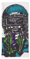 Marshawn Lynch 1 Bath Towel