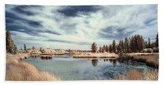 Marshlands In Washington Hand Towel
