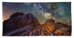 Bath Towel featuring the photograph Martian Landscape by Darren White