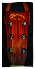 Martin And Co. Headstock Bath Towel