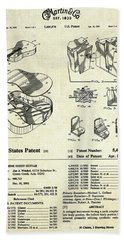 Martin Guitar Patent Art Bath Towel