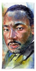 Martin Luther King Jr. Painting Hand Towel