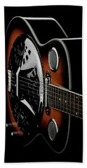Martinez Guitar 01 Hand Towel by Kevin Chippindall