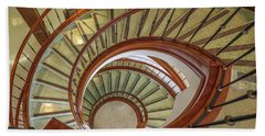 Hand Towel featuring the photograph Marttin Hall Spiral Stairway by Gregory Daley  PPSA