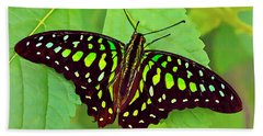 Marvelous Malachite Butterfly 2 Bath Towel
