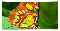 Marvelous Malachite Butterfly Bath Towel