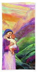 Mary And Baby Jesus Gift Of Love Hand Towel