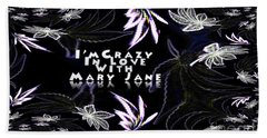 Hand Towel featuring the digital art Mary Jane The Wallpaper by Jacqueline Lloyd