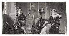 Mary Stuart And Chatelard. Mary, Queen Bath Towel