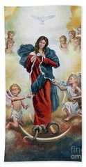 Mary Untier Of Knots Bath Towel
