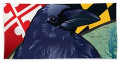 Maryland Citizen Raven Hand Towel