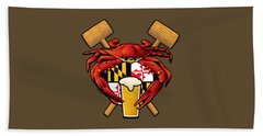 Maryland Crab Feast Crest Bath Towel