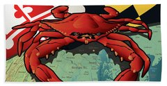 Maryland Red Crab Bath Towel
