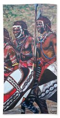 Masaai Warriors Bath Towel by Sigrid Tune