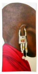 Masai Woman - Original Artwork Hand Towel