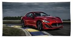 Maserati Gran Turismo G T Sport Bath Towel by Movie Poster Prints