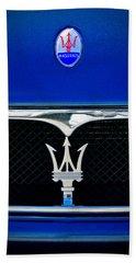 Maserati Hood - Grille Emblems Bath Towel