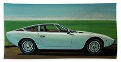 Maserati Khamsin 1974 Painting Bath Towel