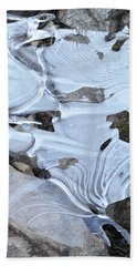 Hand Towel featuring the photograph Ice Mask Abstract by Glenn Gordon