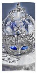 Mask Still Life Blue Hand Towel