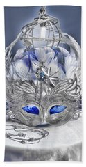 Mask Still Life Blue Bath Towel