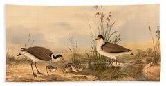 Masked Lapwing Hand Towel by Mountain Dreams
