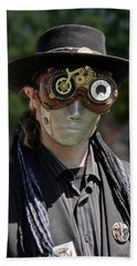 Masked Man - Steampunk Hand Towel by Betty Denise